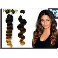China Women 3 Tone Loose Wave Virgin Peruvian Hair Ombre Hair Extensions 12 Inch - 28 Inch wholesale