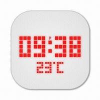 LED Alarm Wall Clock, Measures 24 x 24 x 4.7cm Manufactures