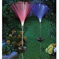 China 7Colors Changing Solar Fibre Optical Outdoor Decorative Solar Garden Stake Lights on sale