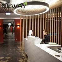 circle shape LED chandelier for hotel hallways up down lighting Luxury multi-layers ring project led chandelier