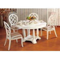 Hotel Elegant Wooden Luxury Dining Room Furniture White Round Dining Table Manufactures