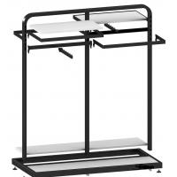Quality Metal / Wood Customized Color Display Rack Stand Garment Showrooms 600*500 for sale