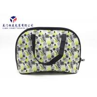 China Fabric Makeup Bag Fashion Women Canvas Handbag In Light Weight Rectangle Shape on sale