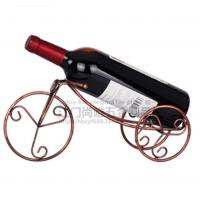 China Hot sale Bronze Tricyle shape red win holder/Creative European style single bottle red wine rack on sale