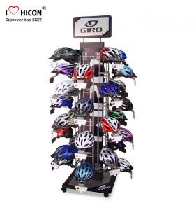China Attract Shoppers Flooring Display Stands Helmet Display Rack Custom Motorcycle Helmet Stand Metal on sale