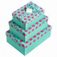 Holiday Decoration Cardboard Gift Boxes, Various Colors and Sizes are Available Manufactures