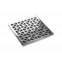 High Ductility Low Profile Shower Drain , Square Floor Drain Grate Strength ≥530 N/Mm Manufactures