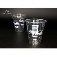 Custom Branding Clear Plastic Cups , Pet Plastic Cups Eco Friendly Manufactures