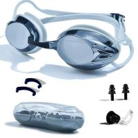 Anti Fog Racing Swimming Goggles UV Protection No Leaking Nose Clip For Adult Manufactures