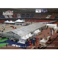 China Tear Resistant Sport Event Tents With Transaprent Roof Covers With Light And Some Tanles on sale