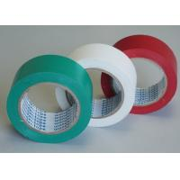 Green / White Stabilized Floor Marking Tape Adhesive Insulation Plasticized PVC Matte Film Manufactures