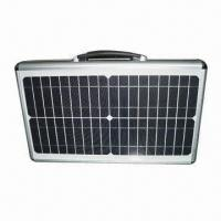 20W Portable Solar Panel Case, Easy to Carry, Kit with LED Indicator and 3 Plugs Manufactures