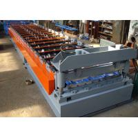 China Roof Plate Corrugated Roll Forming Machine , Roof Tile Making Machine on sale