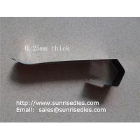 Flat spring steel clips, sheet stamping steel parts, China stamping clip factory, Manufactures