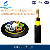 High quality ADSS aerial all dielectrical optical fiber cable manufacturer Manufactures