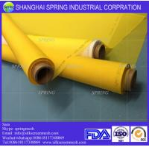 China White/Yellow 72T-48PW malla polyester serigrafia/Polyester Screen Printing Mesh on sale