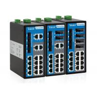 Buy cheap 20-port Industrial Ethernet Switch With IP40 Protection Metal Housing from wholesalers