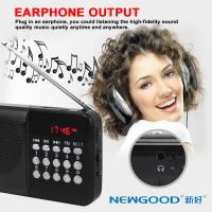 SD card plug in NEWGOOD digital radio music player speaker Manufactures