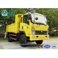 Yellow CDW 4 X 2 Mining Dump Truck 4 Ton With Extended Cabin Diesel Engine Manufactures