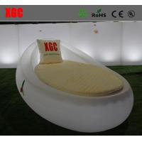 Egg Shape LED Lounge Chair / Swimming Pool Side Sunbed With 16 Colors Available Manufactures