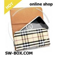 Tartan Pattern Wallet Style Magnetic Flip Texture Soft Leather Case for iPhone 3GS iPhone 3G iPhone Manufactures