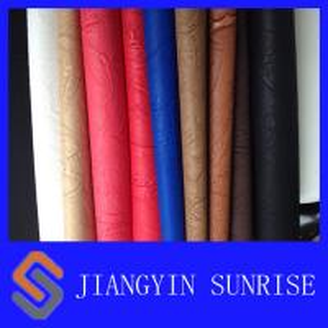 China Anti - Yellowing Embossed Pattern PU Synthetic Leather / PU Polyurethane Leather on sale
