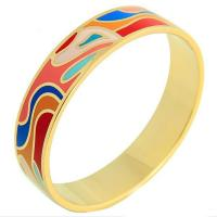 Gold Plated Luxury Unisex Stainless Steel Enamel Bracelet Bangle Manufactures