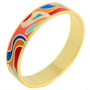 Gold Plated Luxury Unisex Stainless Steel Enamel Bracelet Bangle Manufactures