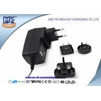 12V 1.5A Wall Mount Power Adapter For Acoustic Products , Universal EU US UK AU Plug Manufactures