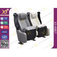 China Sound Absorbing Indoor Novel Design Grey Cinema Theater Chairs With PU Molded Foam on sale