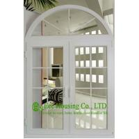 China Grill designs Upvc Arch Window & Door For House / Apartment, White Color Pvc Windows on sale