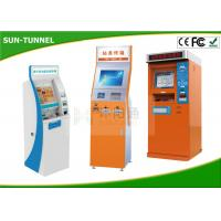 China Bill Dispense Coins To Cash Self Service Kiosk Machine , Currency Exchange Kiosk wholesale