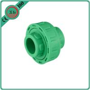 Plastic Adapter PPR Union Polypropylene Random Hexagon Head Code White / Green Color Manufactures