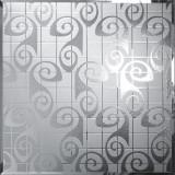 Flower Decorative Silver Mirror Glass Wall Waterproof , Bronze / Gold For Furniture Manufactures