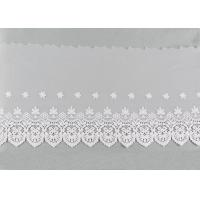 Openwork Embroidered Nylon Lace Fabric Bilateral Symmetry Lace For Wedding Dresses Manufactures