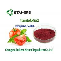 Quality Dark Red Powder Natural Tomato Extract 5%-98% Lycopene Water Soluble Anti - Aging for sale