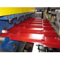 Many Sorts of Tiles on  the Roof Roll Forming Machine Use Full Automated Control for IBR / Corrugated Roof Tile Manufactures