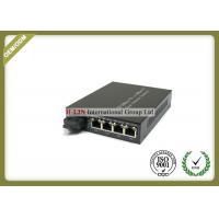 10/100M Single Fiber Optical Media Converter With 1 SC Fiber Port And 4 RJ-45 Ports Manufactures