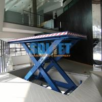 3500kg Hydraulic Scissor Car Lift , Auto Scissor Lift For Workshop Use Manufactures
