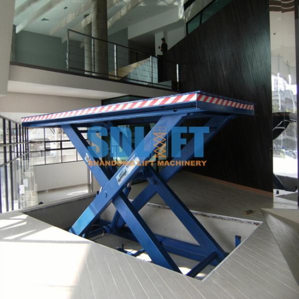 Quality 3500kg Hydraulic Scissor Car Lift , Auto Scissor Lift For Workshop Use for sale
