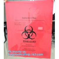PE plastic Yellow first aid medical waste bag,infectious emergency autoclavable biohazard bag on roll, bagplastics, pac Manufactures
