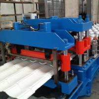 GI / PPGI Wall Panel Roll Forming Machine , RF-ST Roofing Sheet Making Machine Manufactures
