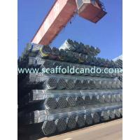 70 microns Hot dipped galvanized pipe, HDG scaffolding steel pipe, BS 1139 EN 39 48.3mm,3.0mm, 3.2mm, 3.25mmT with 6ML Manufactures