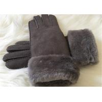 China Shearling Sheepskin Gloves Hand Sewing Women Ladies Lamb Fur Winter Gloves on sale