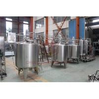 China Stainless Steel Beverage Mixer Carbonated Drink Production Line With Piston Filling System on sale