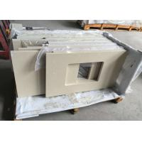 Botticino Beige Marble Bathroom Countertops Durable With Rectangle Sinks Manufactures