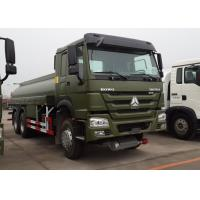 18CBM 6x4 Oil Tanker Truck HOWO HW76 Cab With One Bunk 12.00R20 Tire Manufactures