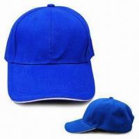 6 Panel Brushed Cotton Cap with Contrasting Sandwich Peak and Bronze-colored Metal Buckle Manufactures