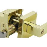 China Reliable Door Handle Safety Lock Polished Brass Zine Aolly Material on sale