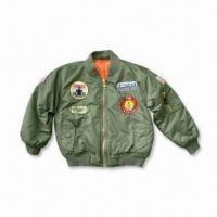 Children's Flight Jacket with Six Awesome Patches and Hand Warmer Pockets Manufactures